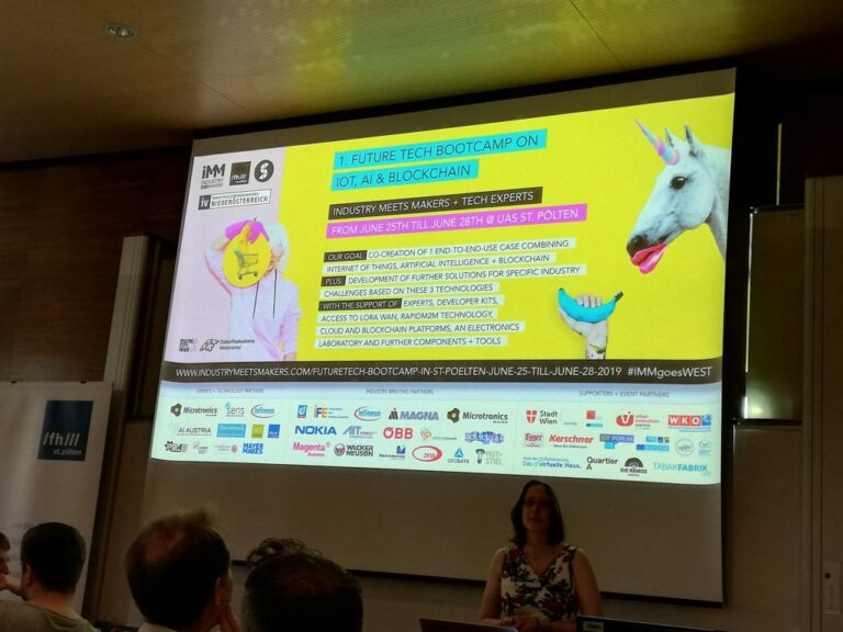 1st Future Tech Bootcamp on Blockchain, IoT & AI – Industry Meets Makers and Tech Experts – St. Pölten